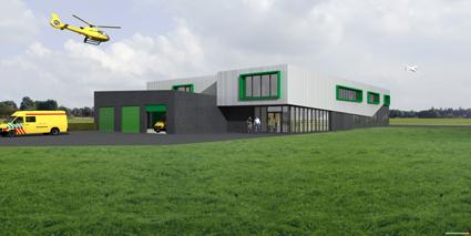 Hulpdiensten bouwen uniek gezamenlijk onderkomen Groningen Airport Eelde